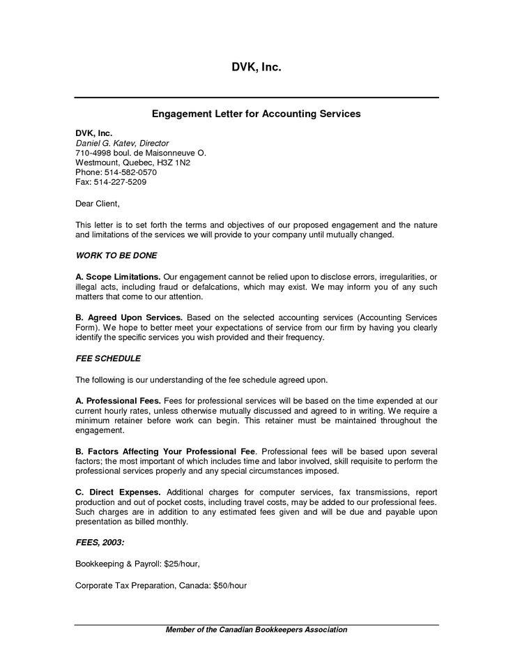 Audit Engagement Letter Sample. Is A Letter Of Engagement