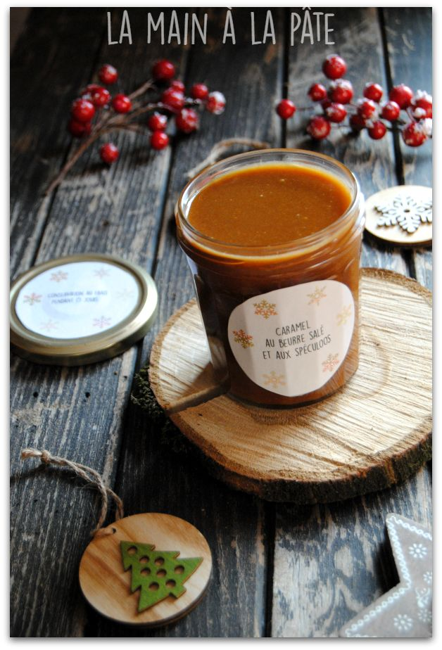 Caramel au beurre salé maison à base de spéculoos réduits en poudre