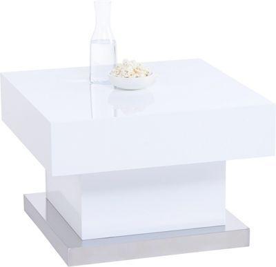Stylisch In Der Optik Und Praktisch In Der Handhabung Ist Dieser Trendige  Couchtisch In Hochglänzendem Weiß. Der Quadratische Tisch Mit Einer  Seitenlänge ...