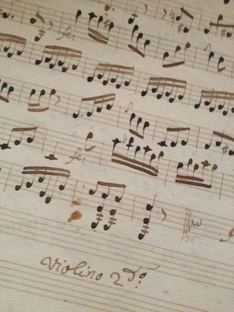 French Hand Written Music - 1700's -   FleaingFrance Brocante Society