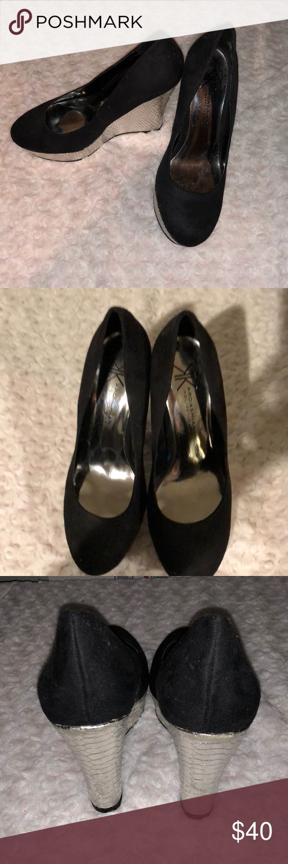 Kardashian Kollection Wedges Kardashian Kollection Wedges. Size 7.5. Brand new never worn. The tops are like a suede material. These are absolutely stunning 😍 Kardashian Kollection Shoes