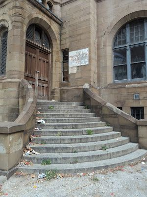Old Post Office, stone entrance steps, Port Elizabeth, South Africa