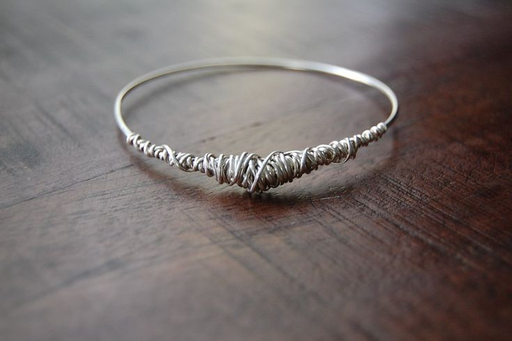 Twisted Collection Silver Bangle - Dianne Rodger Jewellery