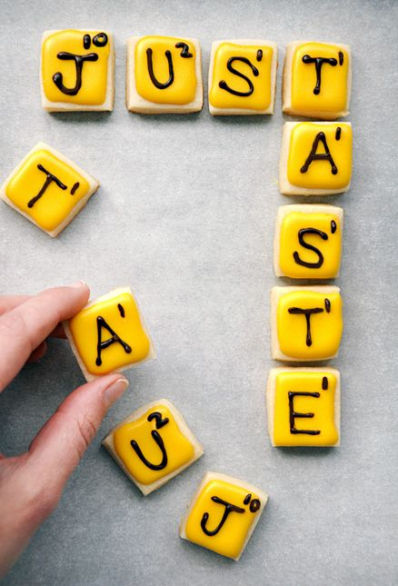 """Words With Friends"" Cookies from justataste.com #recipe"