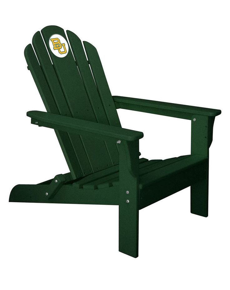 Baylor Bears Folding Composite Adirondack Patio Chair in Green