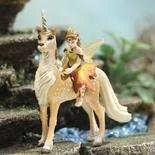 Miniature World of Fantasy Breena Fairy on Unicorn