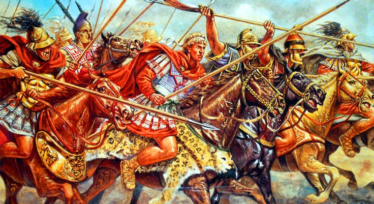 Alexander the Great leading the Macedonian charge by Giuseppe Rava