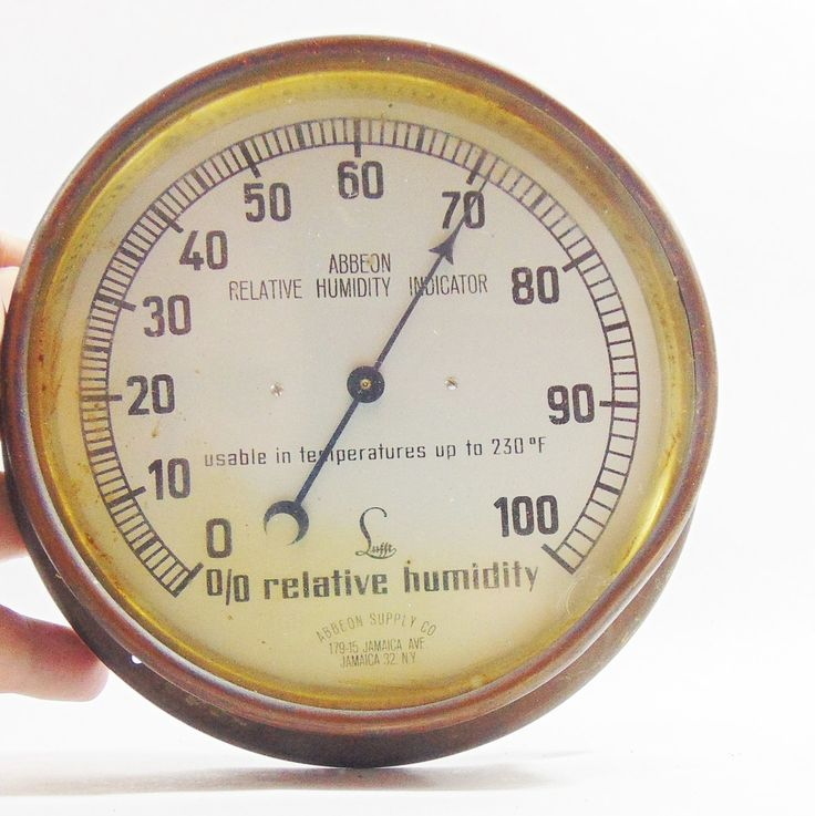1950s, Gauges, Steampunk, Steampunk Gauges, Steampunk Gadgets, Weather Gifts, Atomic Age, Mid Century Atomic, Relative Humidity Gauge,Abbeon by DoorCountyVintage on Etsy