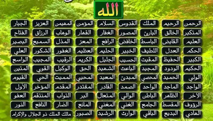 اسماء الله الحسنى بالترتيب مكتوبة كاملة للنابلسي ومعانيها 2 Duaa Islam Islam Allah Names