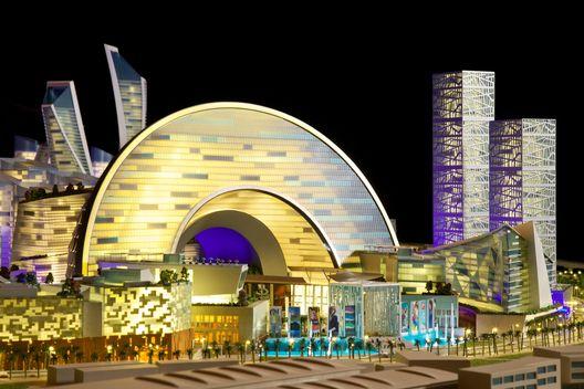 """Planificación de Dubai del """"Mall of the World"""", la primera """"Ciudad de temperatura controlada"""",Distrito cultural de Dubai. Imágen cortesía de Dubai Holding"""