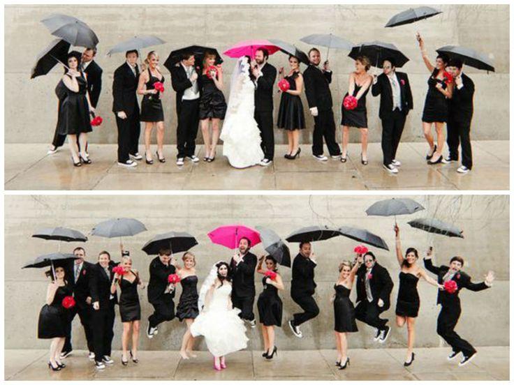 fotos de bodas bajo la lluvia