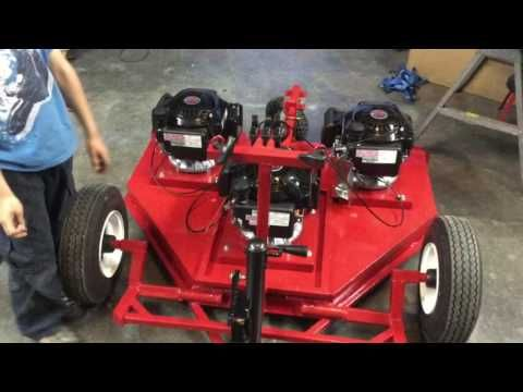 ATV Mower With Three Harbor Freight Predator 173cc Engines