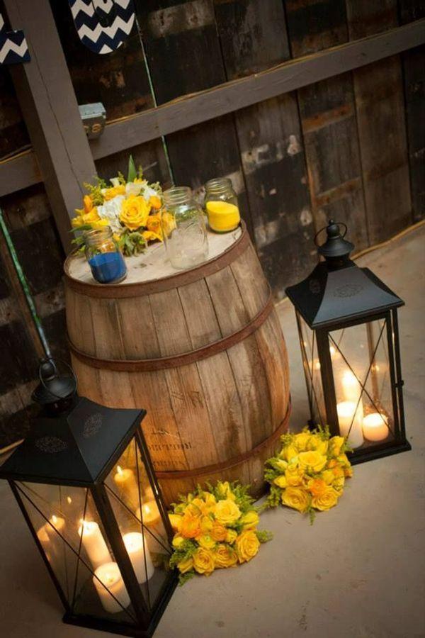 Navy U0026 Yellow Wedding Barn Wedding