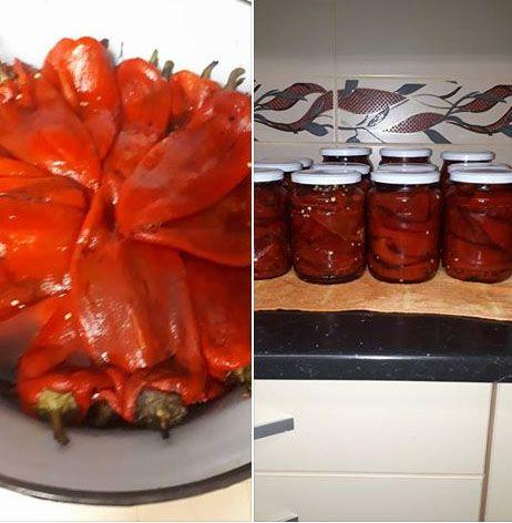 Ingrediente<br > 4 kg ardei capia<br > 350 ml otet tare<br > 100 ml ulei de masline sau floarea soarelui<br > o lingura si jumatate de sare ( sa nu fie fina)<br > 2 linguri