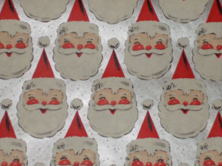 Vtg Christmas 1950 Atomic Age Santa Claus Face Mcm Store Wrapping Paper 2 Yards FOR SALE • $11.39 • See Photos! Money Back Guarantee. I HAVE LOTS OF NEAT VINTAGE ITEMS LISTED AND GLADLY COMBINE SHIPPING - PLEASE SEE MY OTHER GORGEOUS VINTAGE WRAPPING PAPERS 2 YARDS OF VINTAGE ATOMIC AGE WRAPPING PAPER FROM 302140566429