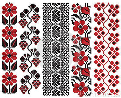 Ukrainian embroidery flower elements by Boordon, via Dreamstime