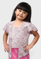 Van Batik  Van Batik Kebaya Top Putih Pink