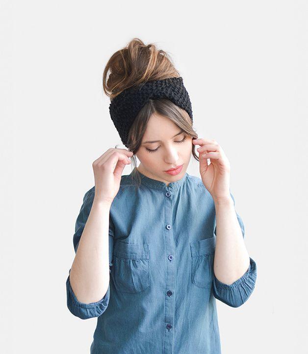autumn in DaWanda Headbands – Hand knit headband, ear warmer / Hand knitted – a unique product by plexida on DaWanda