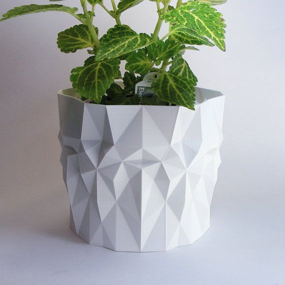 Modern Pot Geometric Pot for Plants Outdoor Planter  by MeshCloud