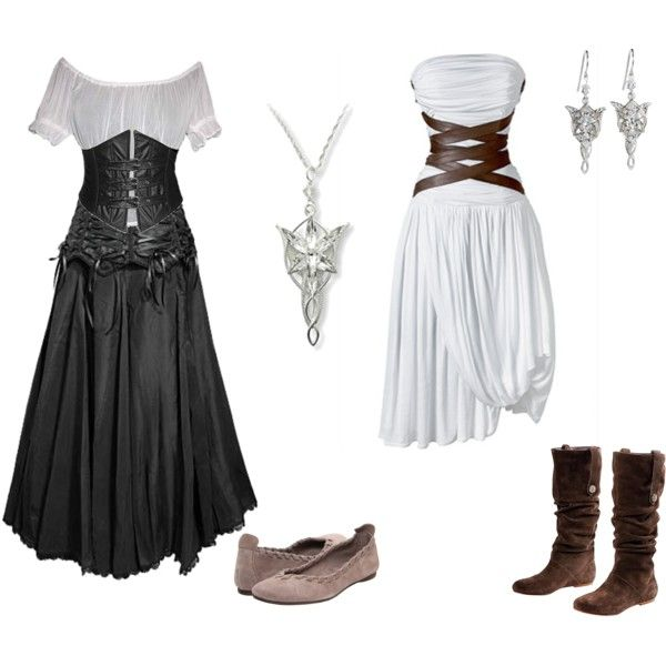 """old life new chance"" by kerstinxx on Polyvore. This would be great for a skyrim or Eowyn costume."