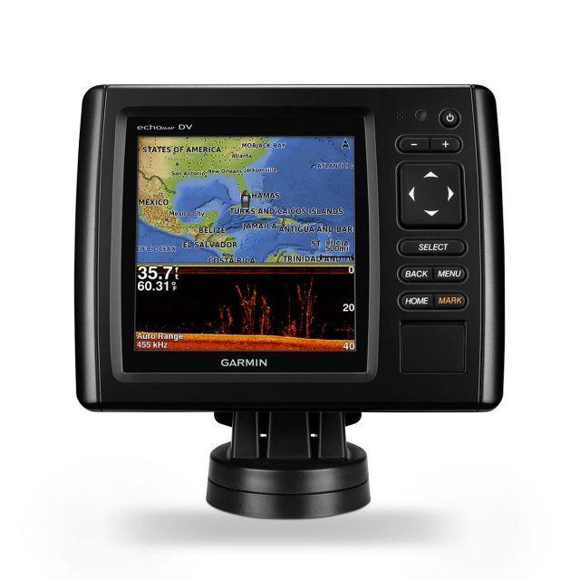 GPS e Sonar / ChartPlotter Garmin echoMAP 52dv CHIRP c/ Carta Náutica (c/ Transducer GT20-TM)