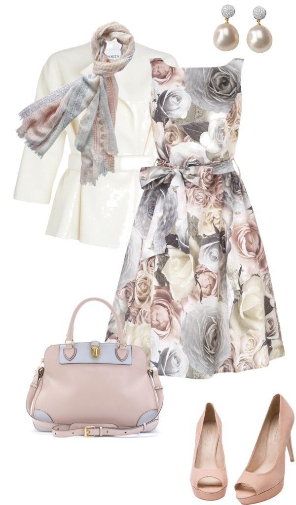 """spring roses"" by sagramora ❤ liked on Polyvore"
