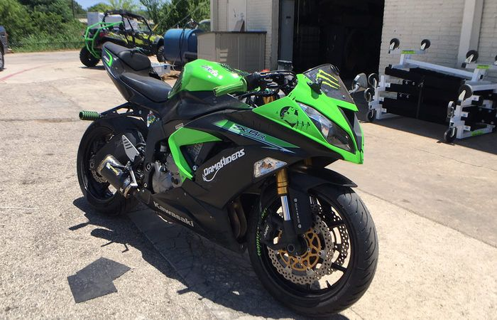 Bike of the Day: 2014 Kawasaki NInja ZX - 6 R Available from: Freedom Powersports Farmer's Branch Like and share for a new deal each day!
