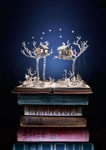 SU BLACKWELL Portfolio Book-Cut Sculpture