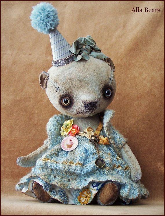 Par Alla ours Lg 10.5 pouces artiste art vieux ours par AllaBears