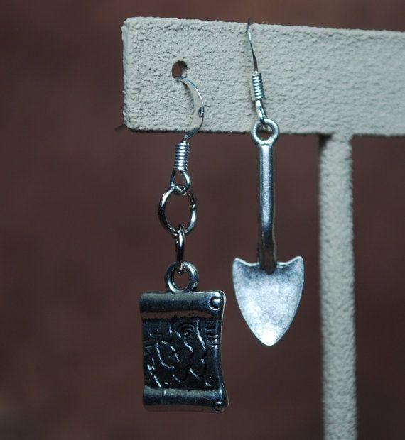 Treasure Hunter earrings by AbandonedWarehouse on Etsy