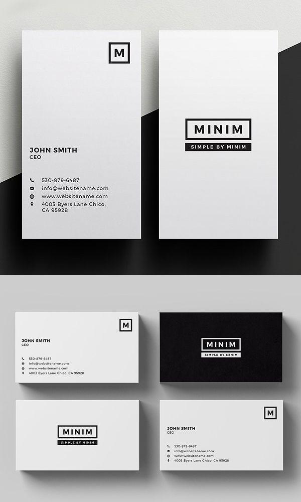Minim Simple Clean Business Card Https Creativemarket Com Templates Business Cards Business Cards Layout Premium Business Cards Business Card Design Simple