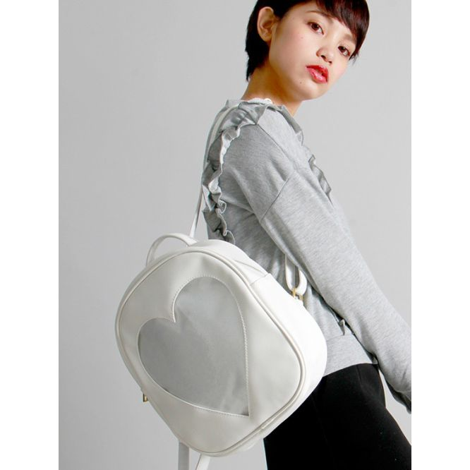 Girly Girl Originals Backpack on Girly Girl の To Alice.Girly Trends Transparent Heart Backpack Street Fashion Gg219 the best choice for you to go out or work !