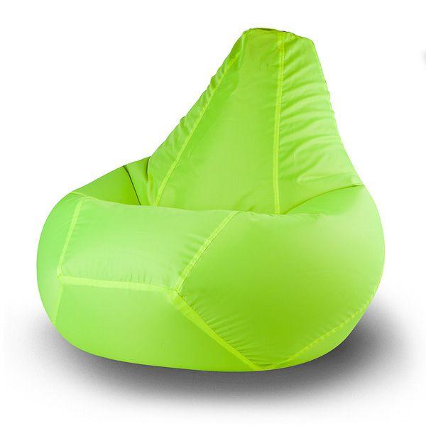 Кресло-груша Lime Oxford XL (лайм) Кресло-мешок большого размера изготовлено из прочной долговечной ткани. Материал такого типа обладает повышенной устойчивостью к загрязнениям, благодаря чему кресло можно использовать как дома, так и на улице или на даче.  Яркий зелёно-жёлтый цвет обивки не оставит равнодушными любителей стильных и необычных предметов интерьера.