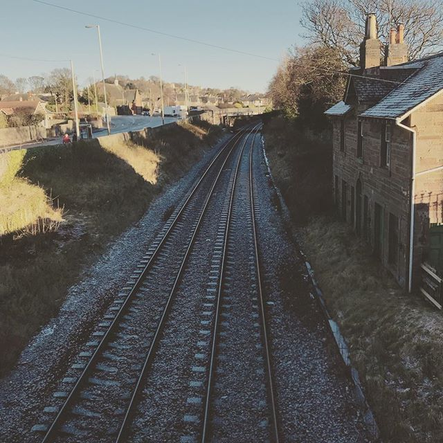 Winter rail tracks #broughtyferry #winter