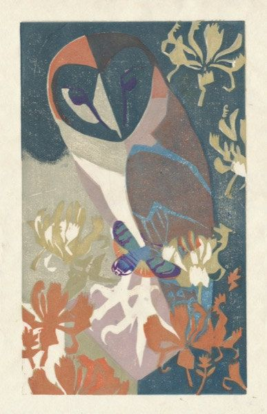 'Twilight' by Matthew Underwood (woodblock print)
