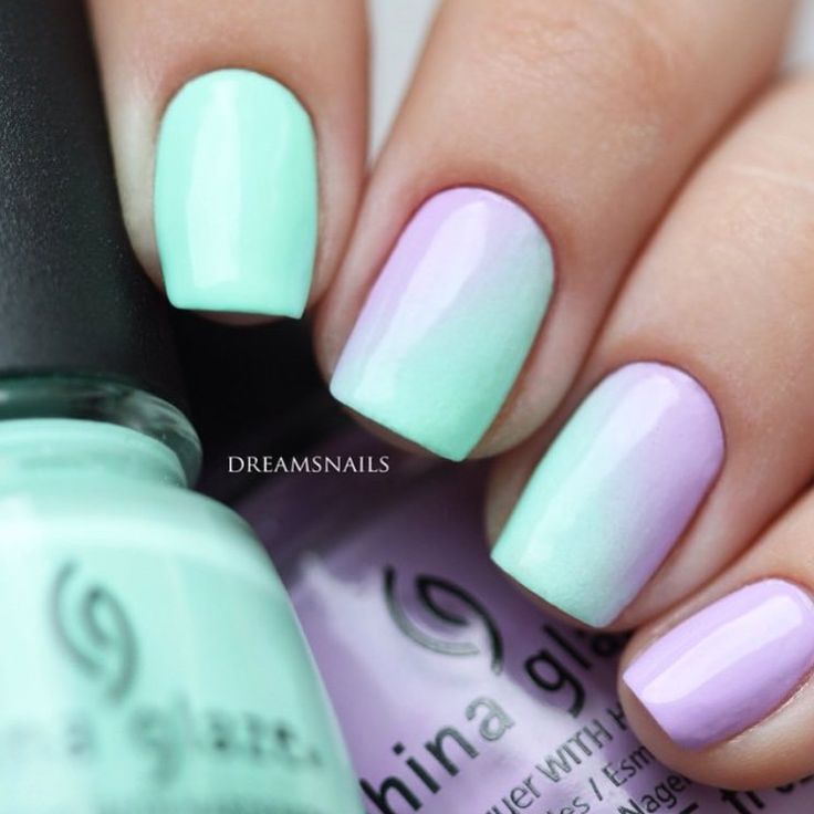 "chinaglazeofficial on Instagram: ""How pretty is this subtle pastel gradient by @dreamsnails using 'Highlight of My Summer' and 'Lotus Begin'?! """