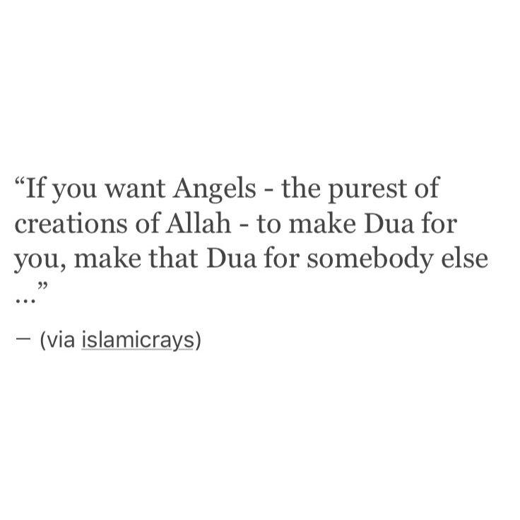 Make dua for somebody else