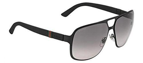 Gafas de sol Gucci Marco Negro Mate / Lente Gris Degradado  2253/S  | Antes: $1,630,000.00, HOY: $639,000.00