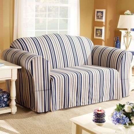 Striped Slipcovers For Sofas