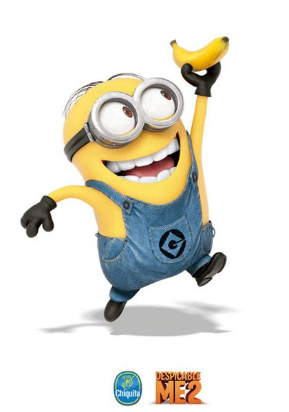 In the eyes, or eye, of a minion, bananas are the ultimate source of happiness.