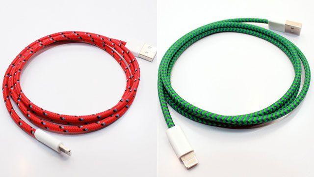 縄跳びの様な、登山道具のような、そんなiPhoneケーブル。布を巻いてデザインされたEastern CollectiveのiPhoneケーブ...