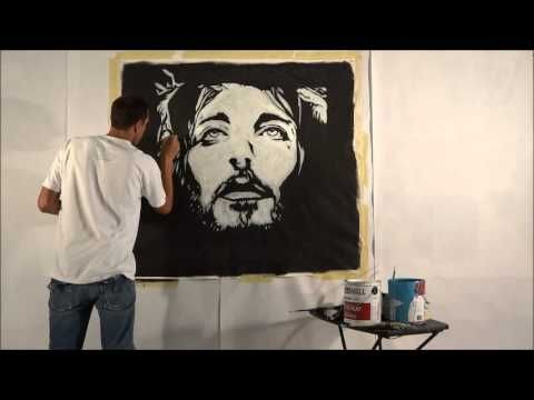 JESUS SPEED PAINTING by POP ARTIST CARSON GRIER