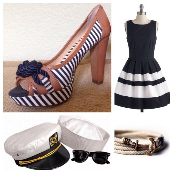 Adorable Gianni Bini Nautical Pumps Ahoy Matey! Snatch up these adorable nautical pumps before they walk the plank! Worn only once. Blue and white striped fabric upper with blue cord and tan leather details. Souls are rubber, so you won't slip while you dance the night away in these darling pumps! Gianni Bini Shoes Heels