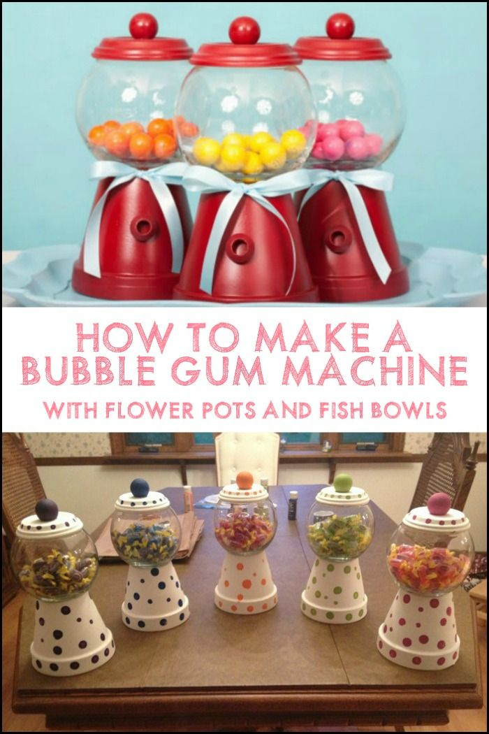They are not real gumball machines, but they're definitely a cute way to sort and display candy treats on the table!
