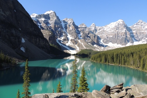 Congratulations to Pam Jauer for this week's winning photo of Moraine Lake in Alberta, Canada.