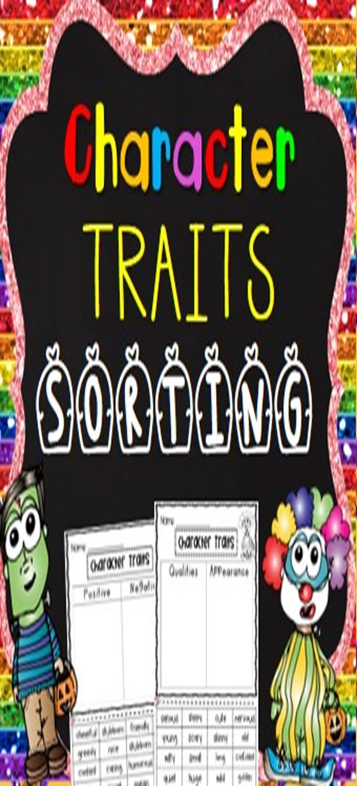 Hot selling print and go kit - Help your students cement their understanding of character traits. In this fun pack, students will sort character traits into qualities and appearance and positive and negative qualities. Students will then write character traits for their favorite movie star, superhero, character, best friend and teacher.