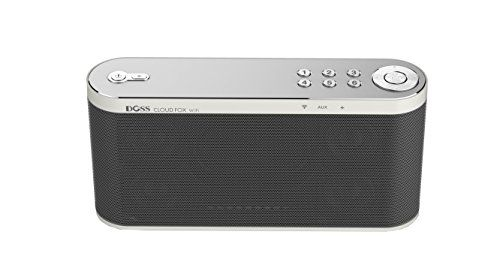 Wireless Wifi Multiroom Music System Featuring Airplay,Dlna, Spotify Connect, Built-in Wifi, Wifi Direct, Auxiliary-in,Multiroom play,with Rechargeable Battery [ Brand:DOSS Cloud Fox | Color:Gray ] Doss