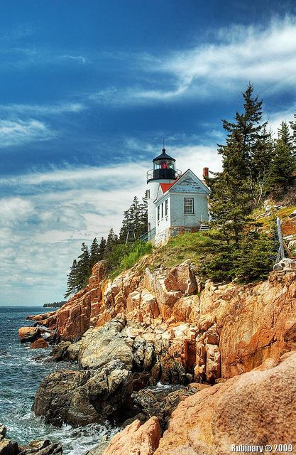 Bass Harbor Head #Lighthouse is located within Acadia National Park on the Southeast corner of Mount Desert Island in Tremont, #Maine