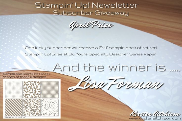 Kirsten Aitchison | Australian Stampin' Up! Newsletter Subscriber Giveaway - April 17 Winner | Click to find out more | #kirstenaitchison #subscribergiveaway #aprilwinner #crazycrafters #stampinup