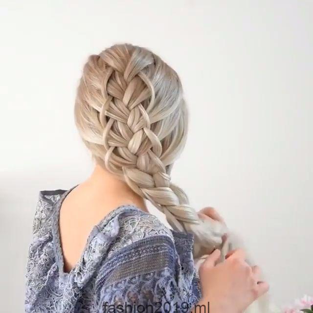 Einfache Und Schnelle Video Haaranleitungen Einfache Haaranleitungen Hair Schnelle Video Geflochtene Frisuren Flechtfrisuren Coole Frisuren
